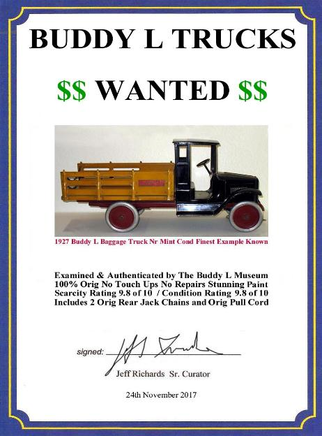 Buddy L Dump Truck Value Guide Buddy L Museum America's largest buyer of Buddy L Toys