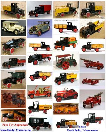 buying antique toys free toy appraisals buying vintage toys buying buddy l trucks any condition free antique toy appraisal rare buddy l trucks for sale selling vintage buddy l toys